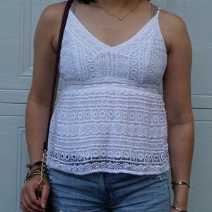 Abercombie & Fitch crochet lace tank NWOT